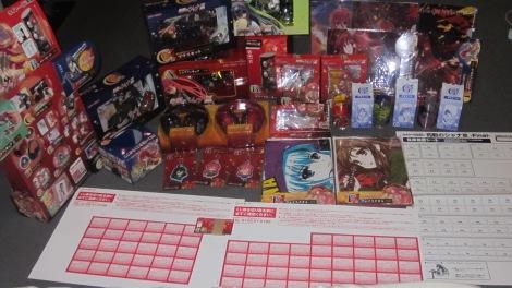 Taito Kuji Honpo Shana III Lottery Prizes Overall